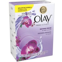 OLAY Fresh Outlast Beauty Bar, Soothing Orchid & Black Currant 3.17 oz, 4 ea [037000917236]