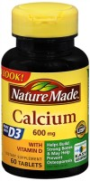 Nature Made Calcium 600 mg With Vitamin D Tablets 60 Tablets [031604014735]