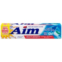 Aim Multi-Benefit Cavity Protection Gel Toothpaste, Ultra Mint 5.50 oz [033200000938]