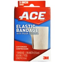 ACE Elastic Bandage with Hook Closure 3 Inch 1 ea [051131203648]