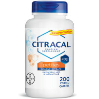 Citracal Calcium Citrate Supplements with Vitamin D Petites 200 ea [016500535034]