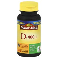 Nature Made Vitamin D3 400 IU Tablets 100 ea [031604026714]