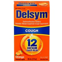 Delsym Adult Cough Suppressant Liquid, Orange Flavor, 5 oz [363824175652]