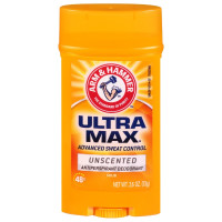 ARM & HAMMER ULTRAMAX Anti-Perspirant Deodorant Invisible Solid Unscented 2.60 oz [033200197140]