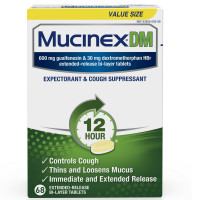 Mucinex DM Extended Release Bi-Layer Tablet, Expectorant & Cough Suppressant 68 ea [363824011653]