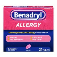 Benadryl Allergy Relief Ultratab Tablets 24 ea [312547170314]