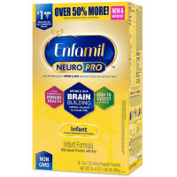 Enfamil NeuroPro Infant Formula - Brain Building Nutrition Inspired by Breast Milk - Powder Refill Box, 31.4 oz [300875121115]