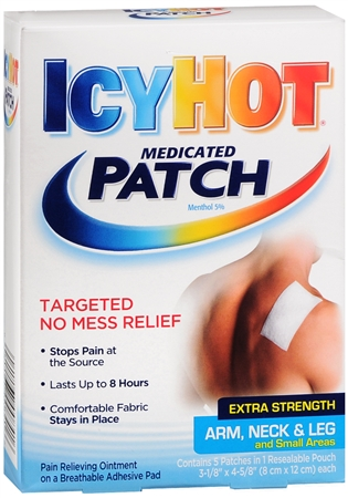 ICY HOT Medicated Patches Extra Strength Small (Arm, Neck, Leg) 5 Each [041167008416]