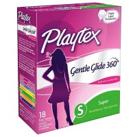 Playtex Gentle Glide Super Absorbency Tampons, Fresh Scent 18 ea [078300098348]