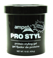 Ampro Protein Styling Gel, Super Hold, 15 oz [077312408411]