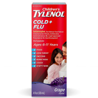 TYLENOL Children's Plus Multi-Symptom Cold Oral Suspension Grape 4 oz [300450391056]