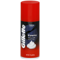 Gillette Foamy Shaving Cream, Regular 6.25 oz [047400240308]