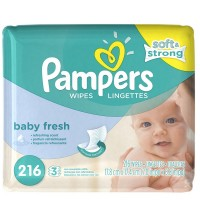 Pampers Soft Care Baby Wipes Refills, Baby Fresh 216 ea [037000282631]