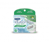 Schick Intuition Naturals Cartridges Sensitive Care 3 Each [841058040682]
