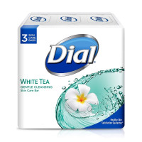 Dial Clean & Soft Glycerin Bar Soap, White Tea , 4 oz bars, 3 ea [017000027555]