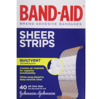 BAND-AID Sheer Strips Adhesive Bandages, All One Size 40 ea [381370046660]