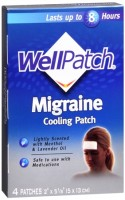 WellPatch Migraine Cooling Therapy Pads 4 Each [310742015652]