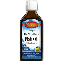 Carlson Labs The Very Finest Fish Oil, Lemon Flavored 6.70 oz [088395015403]