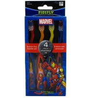Dr. Fresh Marvel Heroes Suction Cup Toothbrushes Characters May Vary 4 Each [672935830504]