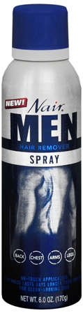 Nair For Men Hair Remover Spray 6 oz [022600278108]