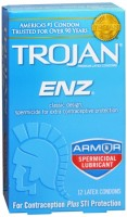TROJAN Enz Spermicidal Latex Condoms 12 Each [022600932529]