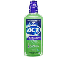 ACT Total CARE Anticavity Fluoride Rinse Fresh Mint 18 oz [041167096109]