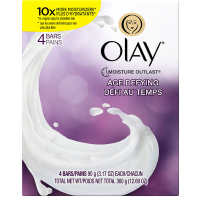 OLAY Age Defying Beauty Bars, 4 Pack 12.68 oz [037000844259]
