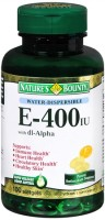Nature's Bounty Vitamin E 400 IU Softgels Water Soluble 100 Soft Gels [074312023408]