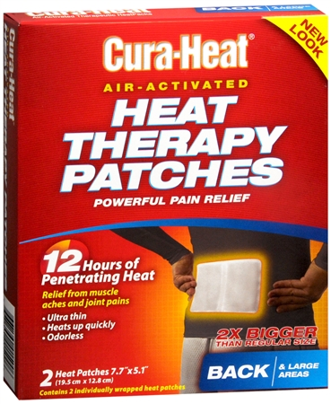 Cura-Heat Therapeutic Heat Packs Large Size 2 Each [667560015006]
