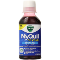 Vicks Nyquil Severe Cold & Flu Nighttime Relief Liquid, Berry Flavor 12 oz [323900038158]