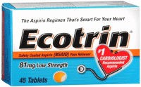 Ecotrin 81 mg Low Strength Tablets 45 Tablets [042037103750]