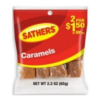 Sathers Caramels 12 pack (2.3oz per pack) [075602101516]