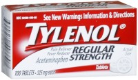 TYLENOL Regular Strength Tablets 100 Tablets [300450496607]