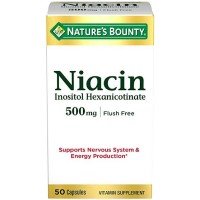 Nature's Bounty Niacin 500 mg Capsules Flush Free 50 ea [074312016608]