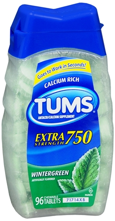 TUMS E-X 750 Tablets Wintergreen 96 Tablets [307667394665]