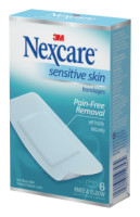 Nexcare Sensitive Skin Bandages,Knee and Elbow 6 ea [051131193574]