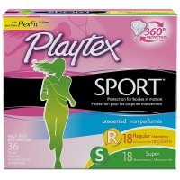 Playtex Sport Unscented Multi-Pack Tampons 36 ea [078300099338]