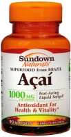 Sundown Naturals Acai 1000 mg Softgels 90 Soft Gels [030768199661]