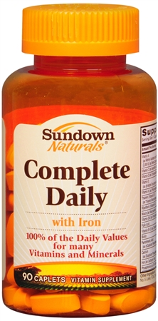 Sundown Complete Daily Caplets With Lutein 90 Caplets [030768035488]