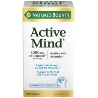 Nature's Bounty Active Mind Cognitive Health Coated Caplets 60 ea [074312647840]