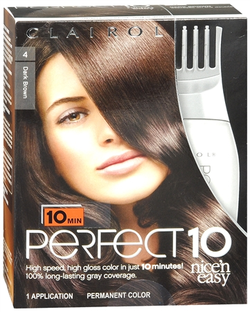 Nice 'n Easy Perfect10 Permanent Color 4 Expresso on the Double (Dark Brown) 1 Each [381519022067]
