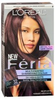 L'Oreal Fria Permanent Haircolour Gel - 32 Midnight Ruby (Light Auburn Black) (Warmer) 1 Each [071249094570]