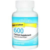 21st Century 600 Calcium Supplement Tablets 75 ea [740985275320]