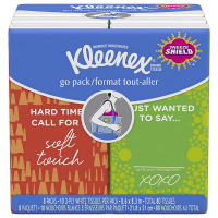 KLEENEX Facial Tissues Pocket Pack, 10 Tissues Per Pack, 8 ea [036000119749]
