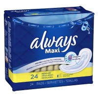 Always Maxi Regular Non-Wings Unscented Pads 24 ea [037000663812]