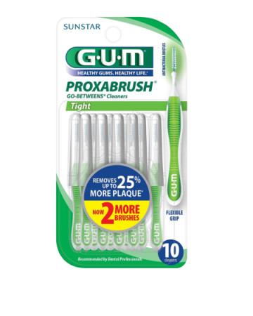 GUM Go-Betweens Proxabrush Cleaners Tight [872] 10 Each [070942002448]