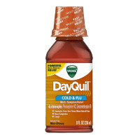 Vicks Dayquil Cold & Flu Relief Liquid, 8 oz [323900014350]