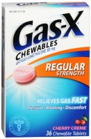 Gas-X Chewables Regular Strength Cherry Creme 36 Tablets [300430113364]