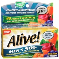 Alive! Nature's Way Once Daily Men's 50+ High Potency Multivitamin 50 ea [033674602447]