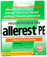 Allerest PE Allergy & Sinus Relief Tablets 18 Tablets [363736586027]